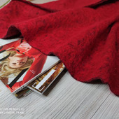 Пальтовая валяная шерсть красный
