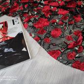 """Плотная вышивка шелковистыми нитями """"Розы красные"""""""