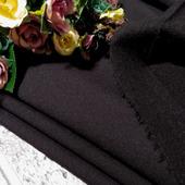 """Ткань костюмная """"Тиар"""" черный с начесом"""