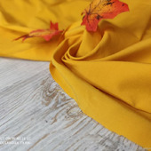 """Рубашечная хлопковая ткань """"Бенгалин"""" золотистая горчица"""