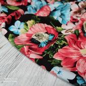 """Штапель-поплин """"Цветы нежно коралловые/розовые/голубые"""""""