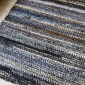 Вязаный коврик меланж прямоугольный