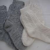Носки вязаные из рассказовской ангоры бесшовные