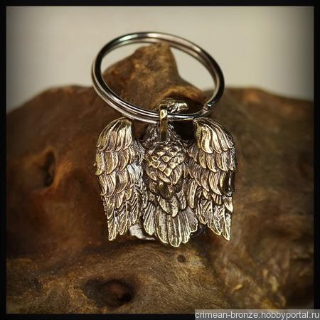 """Брелок """"Орел Цезаря"""" для темляков или браслетов, латунь ручной работы на заказ"""