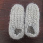 Тапочки-следочки из собачьей шерсти