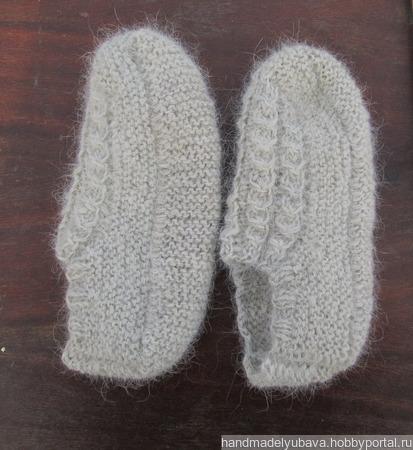 Тапочки-следочки из собачьей шерсти ручной работы на заказ