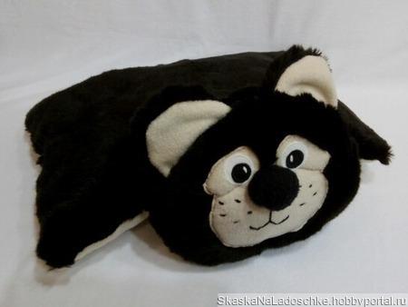 Мишка-подушка ручной работы на заказ