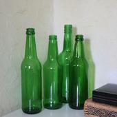 Бутылки зеленое стекло в ассортименте