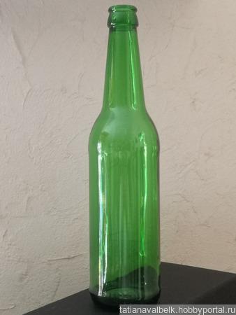 Бутылки зеленое стекло в ассортименте ручной работы на заказ