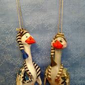 Елочные игрушки - Два веселых гуся