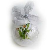 Шар со снегом и подснежниками из полимерной глины