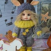 Текстильная кукла Олененок