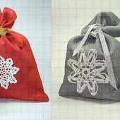 Набор новогодних мешочков для подарков