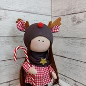 Девочка  в шапочке олененка