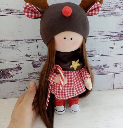 Девочка  в шапочке олененка ручной работы на заказ
