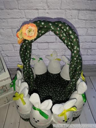 Текстильная корзиночка ручной работы на заказ