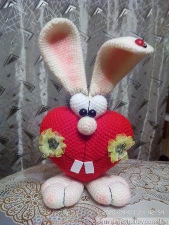 Зайка - Валентин ручной работы на заказ