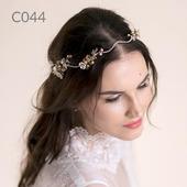 Свадебный ободок для волос С044