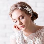 Свадебный ободок для волос С043