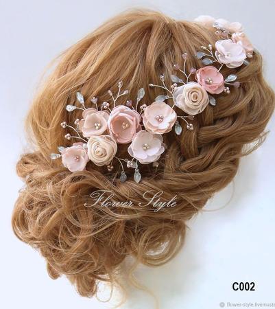 Свадебное украшение для волос С002 ручной работы на заказ