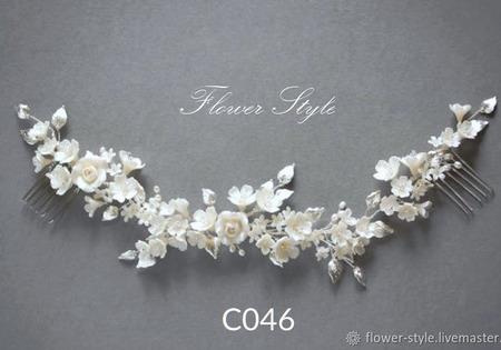 Украшения в прическу невесты С046 ручной работы на заказ