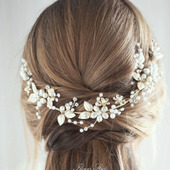 Свадебный ободок для волос С039