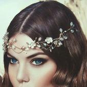 Свадебный ободок для волос С038