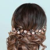 Свадебный ободок для волос  С042