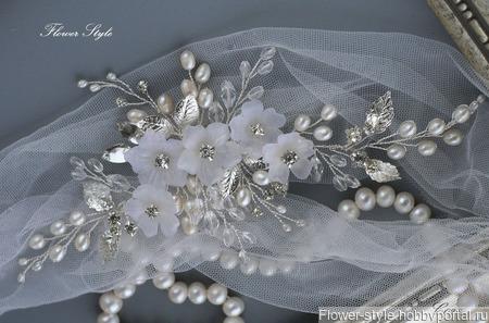 Свадебный гребень С028 ручной работы на заказ