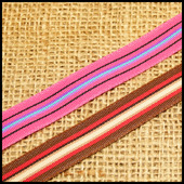 Тесьма репсовая многоцветная