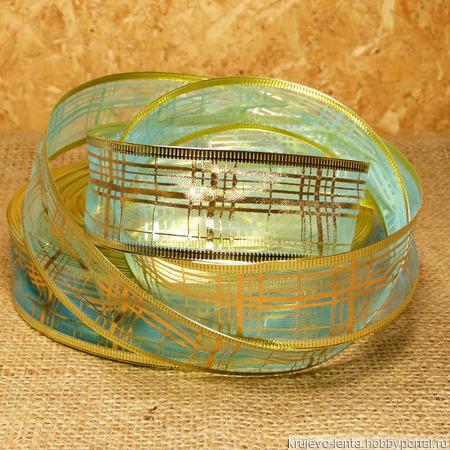 Лента подарочная из органзы цветная ручной работы на заказ