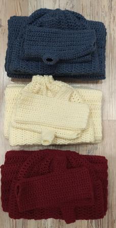Снуд, шапочка и митенки в ассортименте ручной работы на заказ