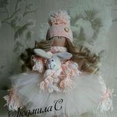 Интерьерная текстильная куколка - ручная работа