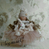 Интерьерная текстильная кукла - ручная работа