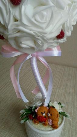 """Топиарий """"Розы нежности"""" - ручная работа ручной работы на заказ"""