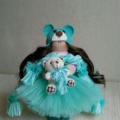 Куколка текстильная интерьерная - ручная работа
