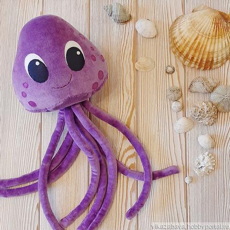 "Мягкая игрушка ""Медуза"" ручной работы на заказ"