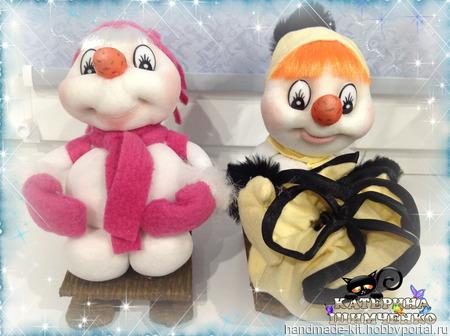 """Интерьерная кукла """"Снеговушка"""" ручной работы на заказ"""
