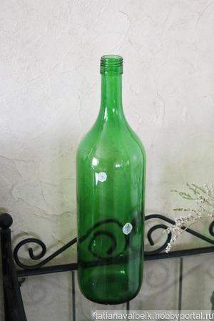 """Бутылка зеленое стекло 1,5 л """"Морской Трофей"""" ручной работы на заказ"""