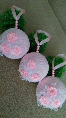 Набор вязаных плюшевых новогодних шаров - ручная работа ручной работы на заказ