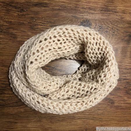 Вязаный шарф снуд ручной работы на заказ