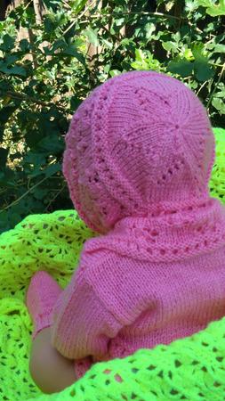 Комплект для новорожденных ажурный ручной работы на заказ