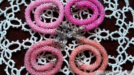 """Браслет-оберег """"Розовые мечты"""" №1, 2, 3, 4 ручной работы на заказ"""