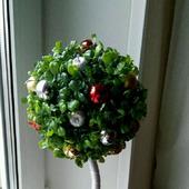"""Топиарий """"Новогоднее деревце"""" - ручная работа"""