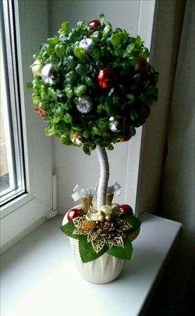 """Топиарий """"Новогоднее деревце"""" - ручная работа ручной работы на заказ"""