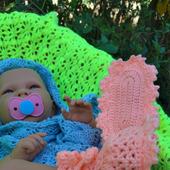 Пинетки для новорожденного кружевные теплые