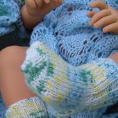 Детские шерстяные носочки вязаные спицами