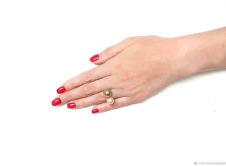 """Необычное кольцо с жемчугом """"Нежность"""" ручной работы на заказ"""