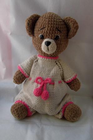 Медвежонок в комбинизоне ручной работы на заказ
