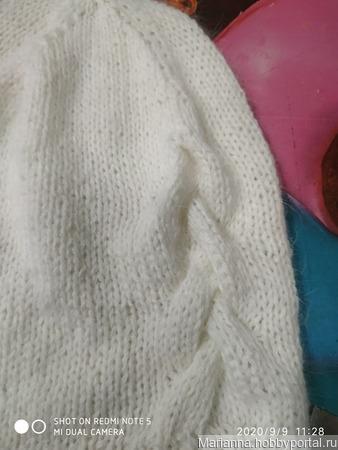 Шапочка бини из пуха норки ручной работы на заказ